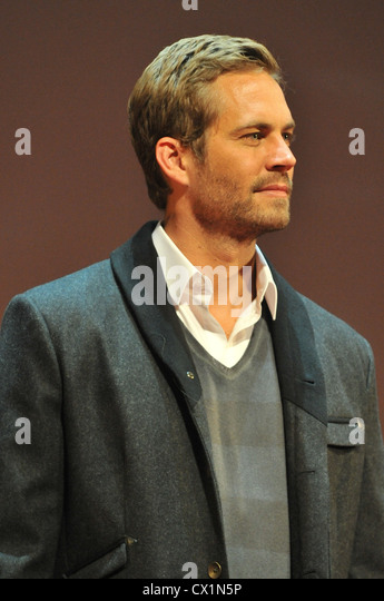 MOSCOW, RUSSIA. APRIL 24. 2011. Actor Paul Walker seen before the Russian premiere of Justin Lin's film Fast & - Stock Image