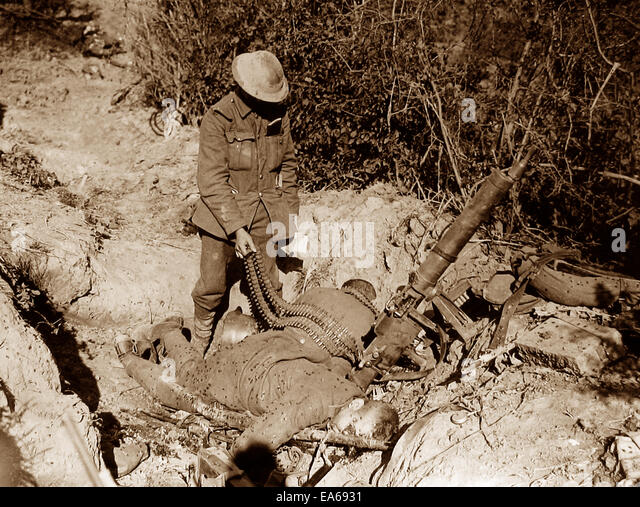 Capture of Meteren France 19th July 1918 WW1 - Stock Image