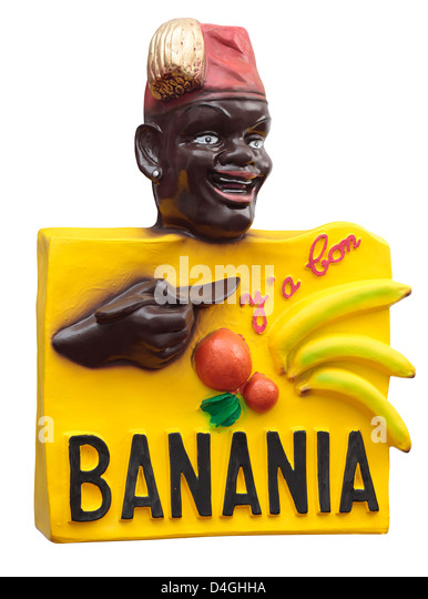 Banania advertising sign; a French hot chocolate and banana milky drink. - Stock Image