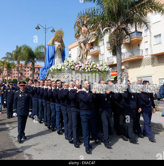 Easter Sunday Parade in Estepona Spain - Stock Image