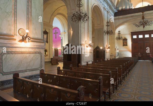 Catedral Metropolitana, Interior, Plaza Constitucion, Montevideo, Uruguay - Stock Image