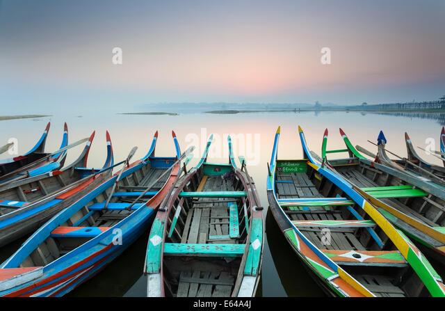 Sunrise, Amarapura, Mandalay, Burma, Myanmar - Stock-Bilder