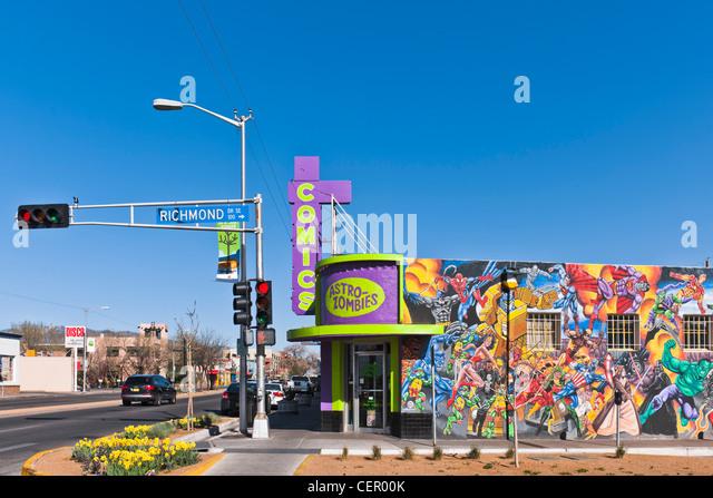Astro Zombies Comic stores, Albuquerque - Stock Image