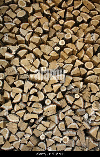 Stack of firewood (oak). - Stock-Bilder