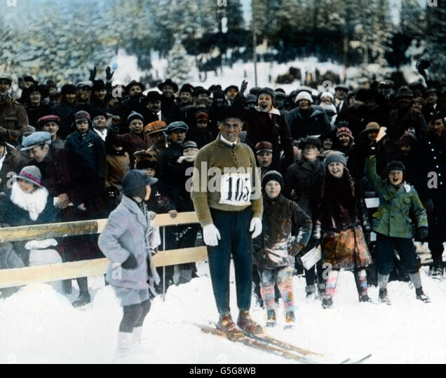 Thorleif Haug (1894 - 1934),  Skilangläufer, Skispringer, Nordischer Kombinierer, skier, nordic combined and - Stock Image
