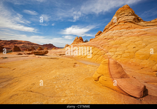 USA, Utah, South Coyote Buttes, Paria Canyon, Rock formations - Stock Image