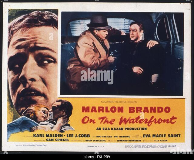 a review of the film on the waterfront directed by elia kazan in 1954 Directed by elia kazan with marlon brando, karl malden, lee j cobb, rod steiger an ex-prize fighter turned longshoreman struggles to stand up to his corrupt union bosses.