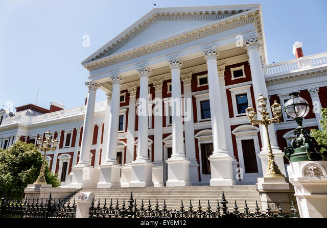 Cape Town South Africa African City Centre center The Company's Garden Government Avenue Houses of Parliament - Stock Image