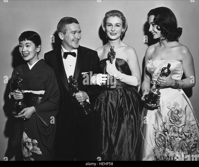 MIYOSHI UMEKI RED BUTTONS JOANNE WOODWARD & JEAN SIMMONS ACTRESSES & ACTOR (1999) - Stock Image