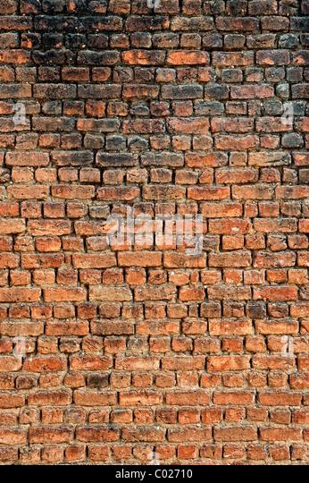 Indian brick wall pattern. Andhra Pradesh, India - Stock Image