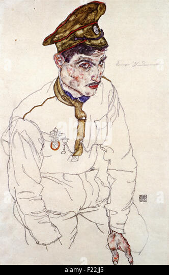 Egon Schiele - Russian War Prisoner - Stock Image