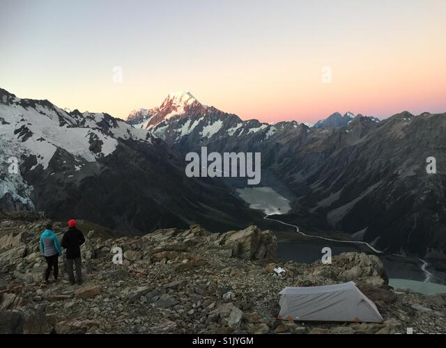 Mt Cook at sunset - Stock Image