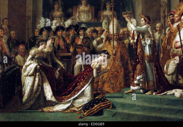 The Consecration of the Emperor Napoleon and the Coronation of Empress Josephine on December 2, 1804, by  French - Stock-Bilder