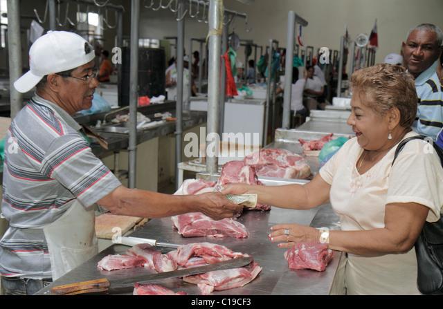 Panama City Panama Ancon Mercado Público Public Market covered farmer's market stall merchant business - Stock Image