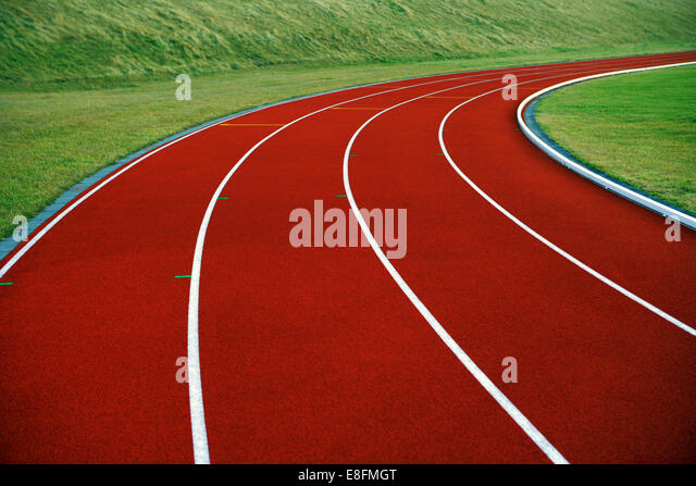 Close-up of running track - Stock Image