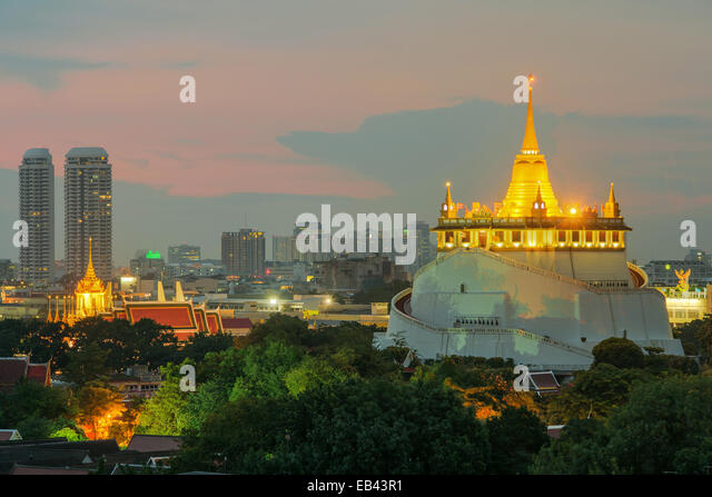 The Golden Mount. Travel Landmark of Bangkok ,Thailand - Stock-Bilder