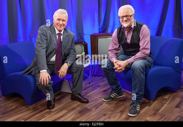 Walsall, West Midlands, UK. 20 March 2015. David Hamilton (L) with Dick Fiddy British Film Institute (BFI) writer - Stock Image
