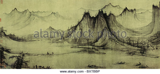 China tradition fine art painting - Stock Image