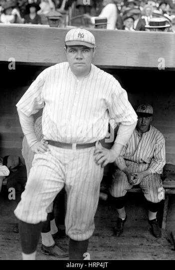 Babe Ruth, American Baseball Legend - Stock Image