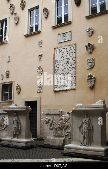 Capitoline Museums. Exhibition. Rome. Italy. - Stock Image