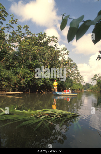 Costa rica tarpon fishing rio colorado river - Stock Image