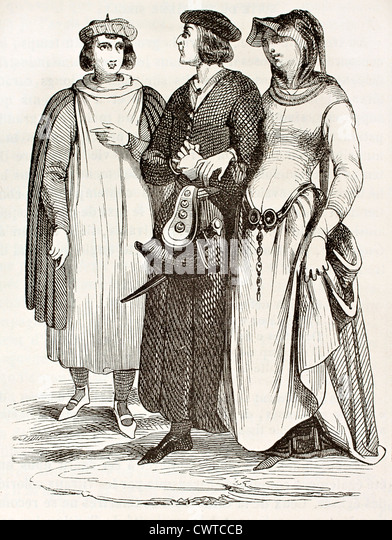 French bourgeois - Stock Image