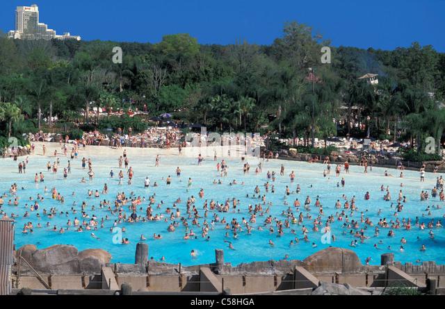 Typhoon Lagoon, Walt Disney World, Orlando, Florida, USA, United States, America, swimming pool, - Stock Image