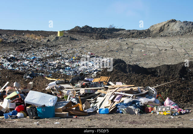 Active landfill cell at Shepard Waste Management Facility. - Stock Image