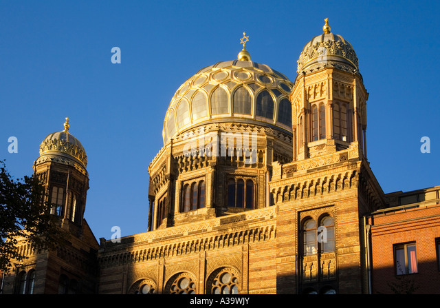 Berlin Jewish Synagogue Oranienburger street - Stock Image