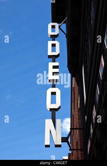 Odeon Cinema sign, England, UK - Stock Image