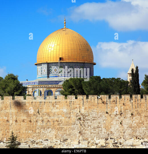 Al-Aqsa Mosque on Temple Mount of Old City, Jerusalem - Stock-Bilder