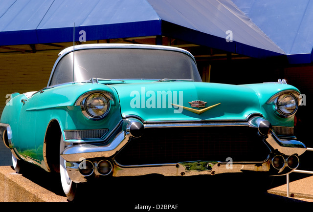 Elvis Presley Cadillac At Graceland In Memphis, Tennessee. - Stock Image