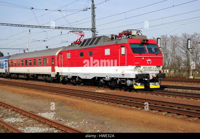 Railway passenger traffic, train, transport, locomotive, passenger - Stock-Bilder
