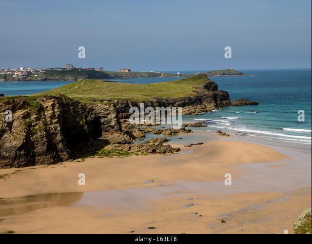 Whipsiderry Beach, Newquay, North Cornwall - Stock Image