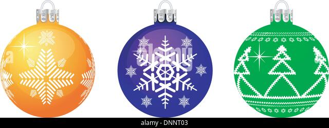 Vector Christmas sphere. No transparency and effects. - Stock-Bilder