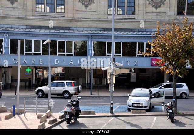 Austerlitz railway station Paris France - Stock Image