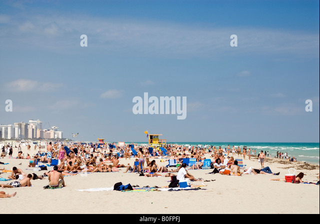 South Beach Miami Florida USA - Stock Image