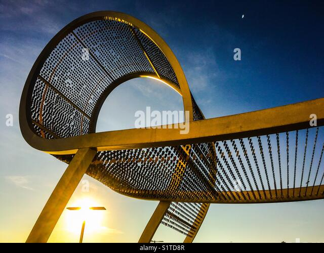 Sculpture at the Toronto Pan Am Sports Centre - Stock Image