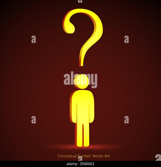 Question mark concept illustration symbol. Problem solution crea - Stock Image