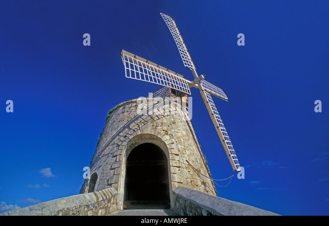 St Croix Sugar Plantation Windmill Whim Plantation United States Virgin Islands - Stock Image