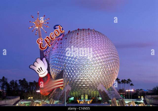 Epcot Center, Orlando, Florida, USA - Stock Image