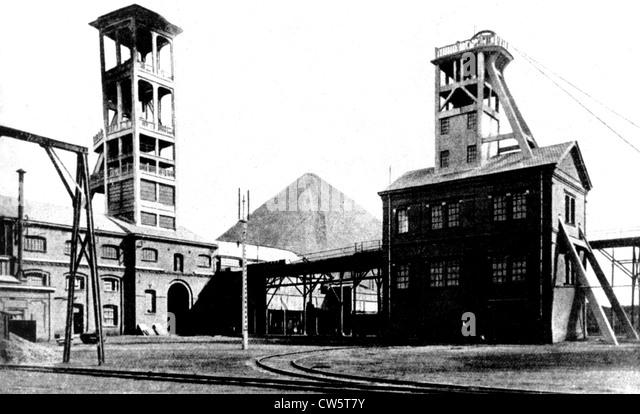 The Saint-Mark pit (Compagnie des mines d'Anzin) - Stock Image