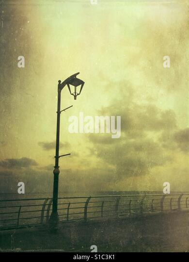 Old lamppost by the Mediterranean Sea beirut lebanon - Stock-Bilder