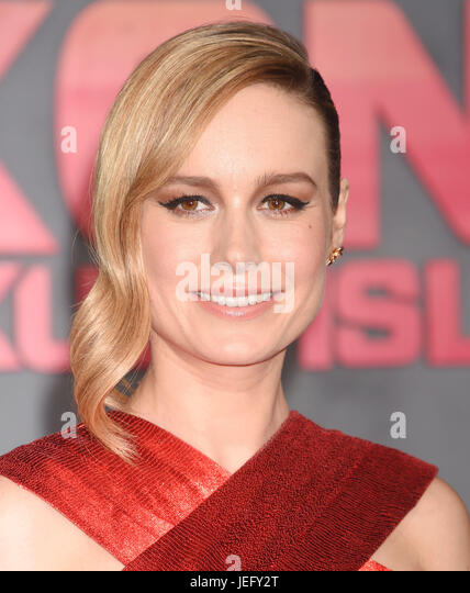 BRIE LARSON  American film actress in March 2017. Photo: Jeffrey Mayer - Stock Image