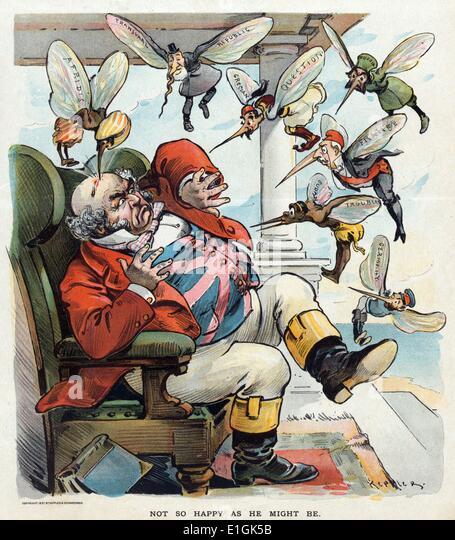 Print of John Bull by Udo Keppler - Stock Image