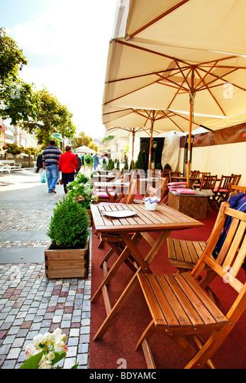 Cafe in Karlovt Vary, Czech Republic - Stock-Bilder