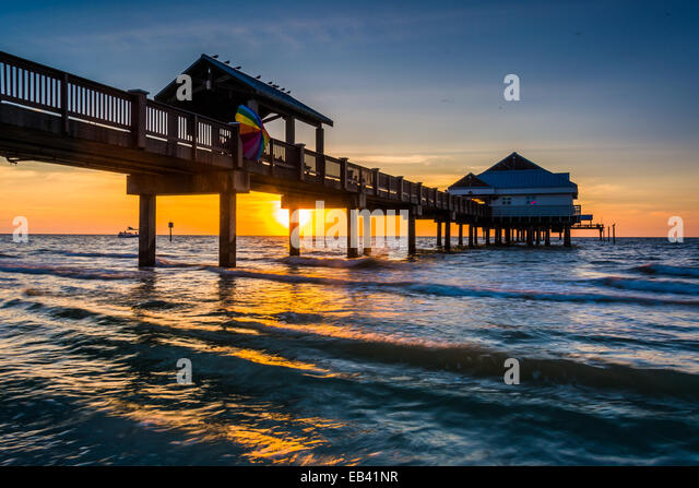 Clearwater beach florida stock photos clearwater beach for Clearwater fishing pier