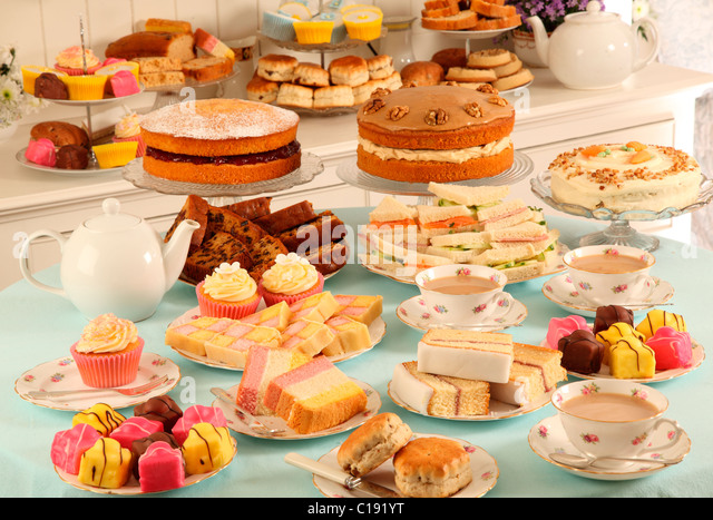 BRITISH AFTERNOON TEA SHOP - Stock Image