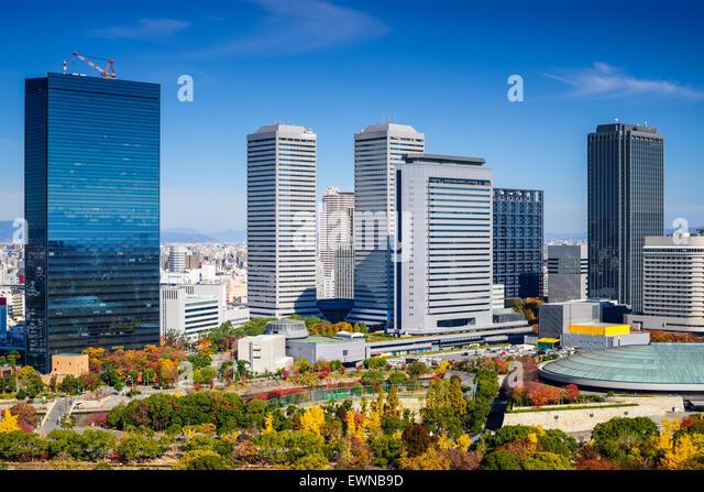 Osaka, Japan cityscape at Osaka Business Park in the autumn. - Stock Image