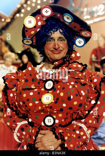 David Jacobs TV Presenter DJ host of the TV Show Primetime in drag for a Christmas Pantomime - Stock-Bilder